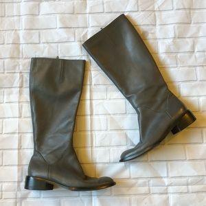 Pazzo gray tall boots zipper knee high riding